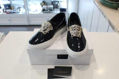 Brand New - Versace Palazzo Leather Sneakers Size 39 <br/> 2B Rack 3 Top level