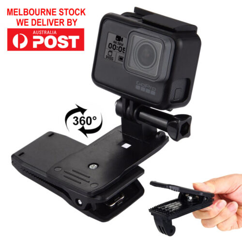 360° Rotating Backpack Hat Quick Release Clip Clamp Mount for GoPro HERO Camera