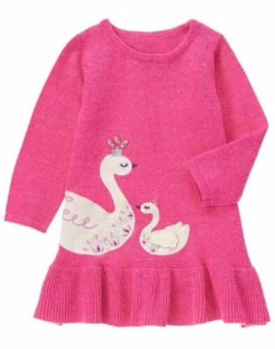 NWT Gymboree Prima Ballerina Swan Sweater Dress Toddler Girl 12 18 24 2T,3T,4T