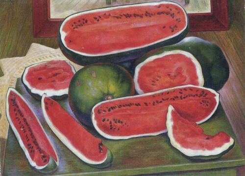 The Watermelons  by Diego Rivera Giclee Canvas Print Repro