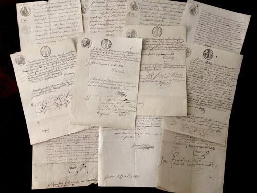Lot of ELEVEN Original handwritten documents