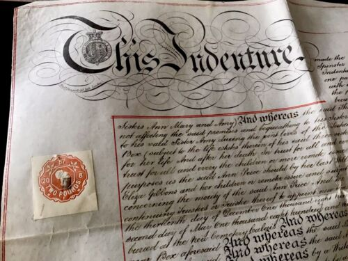 1887 Authentic Document on Vellum
