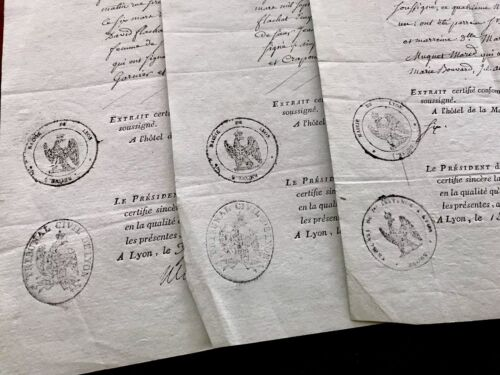 1807 Lot of three BIRTH CERTIFICATES