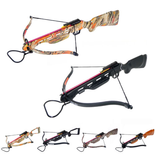 150 lb Black / Wood / Camouflage Camo Hunting Crossbow Bow +2 Arrows 180 80 50Crossbows - 33972