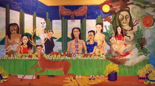 Last Supper by Frida Kahlo  Paper Print Repro