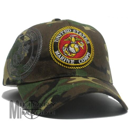 US Marine Corps Hat Official Baseball military Ball Cap USMC USA Camo Marine Corps - 66531
