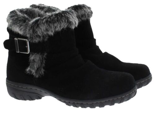 Khombu Lindsay Women's All Weather Black or Brown Suede Leather Winter Boots