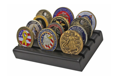 Challenge Coin Display Stand Rack, Solid Wood, Black Finish CN-6Challenge Coins - 74710
