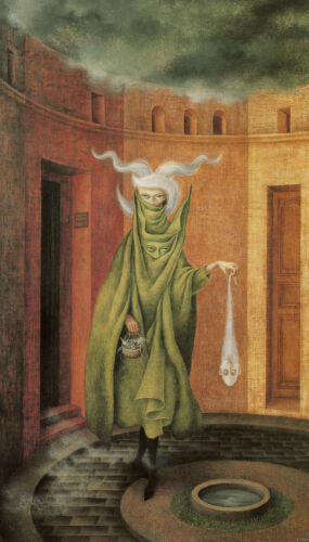 Woman Leaving the Psychoanalyst by Remedios Varo   Giclee Canvas Print Repro