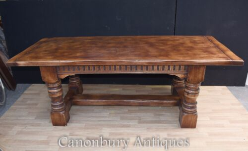 Oak Refectory Table - Farmhouse Kitchen Diner 7 Foot Long