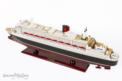NEW QUEEN MARY 2 Wooden Model Boat Cruise Ship Gift Decoration 100cm