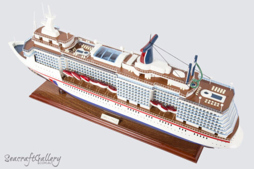 NEW PREMIUM CARNIVAL MIRACLE Wooden Model Boat Cruise Ship 80cm Great Gift