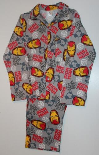 BRAND NEW BOYS OFFICIAL MARVEL IRON MAN BRUSHED COTTON PYJAMAS AGE 3-4 to 9-10