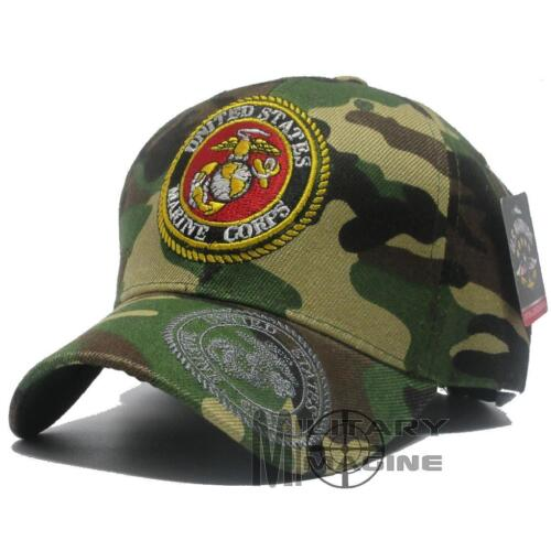 U.S. MARINES hat Military Front Logo Corps Official Licensed Baseball cap CamoMarine Corps - 66531
