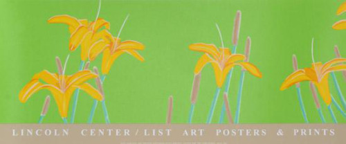 ALEX KATZ Still Life DAY LILLIES Original SERIGRAPH Lincoln Center VERA LIST Ltd