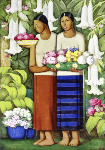 Flowers of Mexico by Alfredo Martinez  Giclee Canvas Print Repro