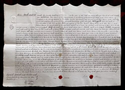 1824 Signed and Handwritten Document