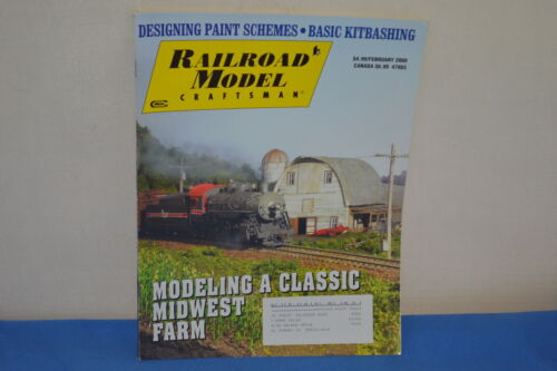 RAILROAD MODEL CRAFTSMAN MAGAZINE MODELING A CLASSIC MIDWEST FARM 2008 ISSUE