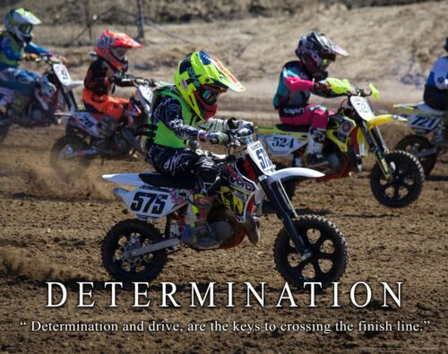 Motocross Motorcycle Racing Motivational Poster Print Youth Jersey Gear MVP622