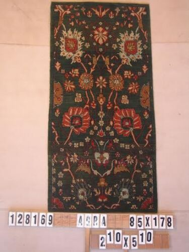 """#WL128169 Rug, hand carded/woven & natural dyes, wool, size: 3'x4'2"""""""