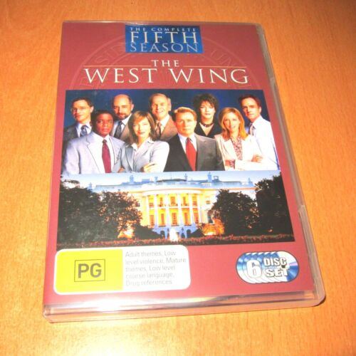 THE WEST WING - SEASON 5 ( DVD , 6 DISC SET REGION 4 ) * EXCELLENT LIKE NEW !