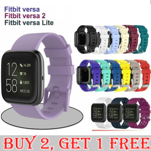 Replacement Silicone Wrist Sports Band Strap Wristband For Fitbit Versa / Lite <br/> 🔥FREE Screen Protector🔥Premium Quality🔥Sydney stock