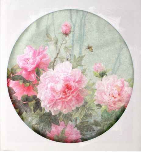 Flower and Bird Oil Painting (print) - 62 x 62cm