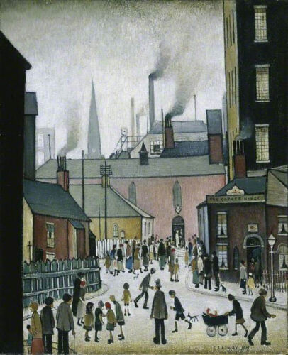 After the Wedding by LS Lowry   Paper Print Repro