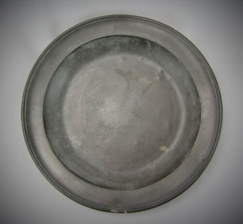 Large Antique Pewter Bowl or Deep Charger by Townsend & Compton, London - 1805
