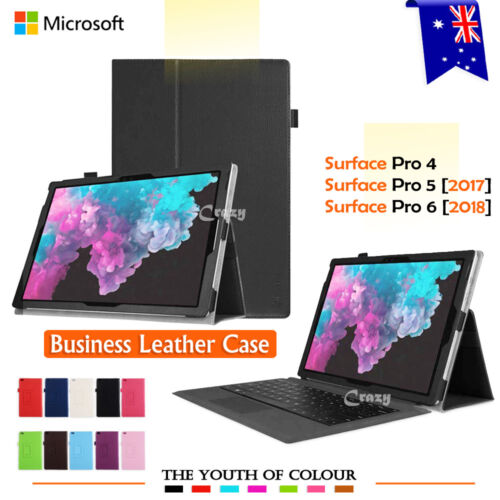 Lightweight Leather Flip Stand Case Cover Microsoft Surface Pro 4 5 6 7 12.3""