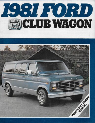 Mint! 1981 Ford Recreational Vehicles Sales Brochure