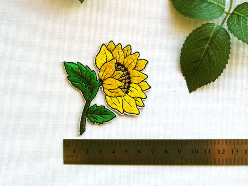 Sunflower Embroidered Iron on Patch