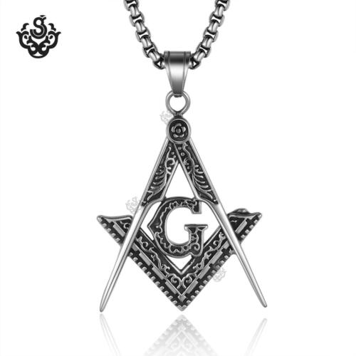 Silver designer G pendant special stainless steel chain necklace soft gothic