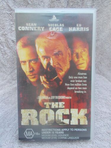 THE ROCK SEAN CONNERY(HOLLIWOOD No 77147) VHS TAPE MA (LIKE NEW)