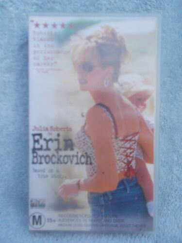 ERIN BROCKOVICH JULIA ROBERTS(COLUMBIA No CST 30598) VHS TAPE M(LIKE NEW)