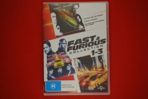 Fast and Furious Collection 1,2,3 - DVD - Free Postage!!