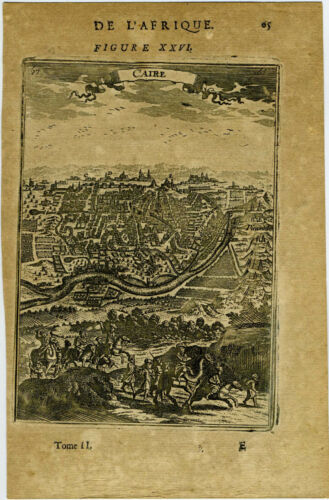 """1683 Genuine Antique print """"Caire"""", Egypt, Cairo, Africa. by AM Mallet"""