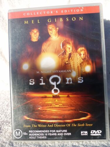 SIGNS SPECIAL EDITION MEL GIBSON  JOAQUIN PHOENIX DVD M R4