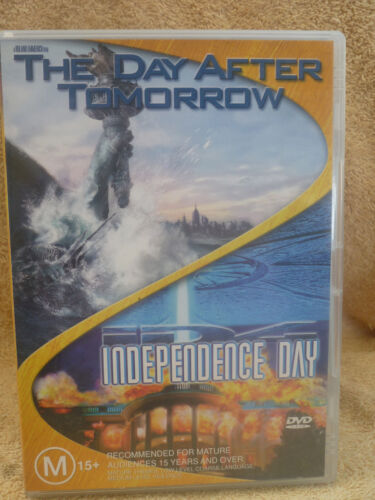 THE DAY AFTER TOMORROW/INDEPENDENCE DAY 2 X DVD  R4