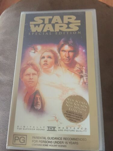 STAR WARS Special Edition THX Video VHS PAL 1997 Like New Played Once