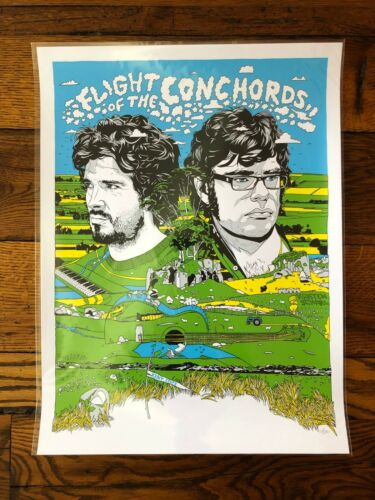 Tyler StoutFlight of the Conchords Kent State 2009 tour gig print art poster