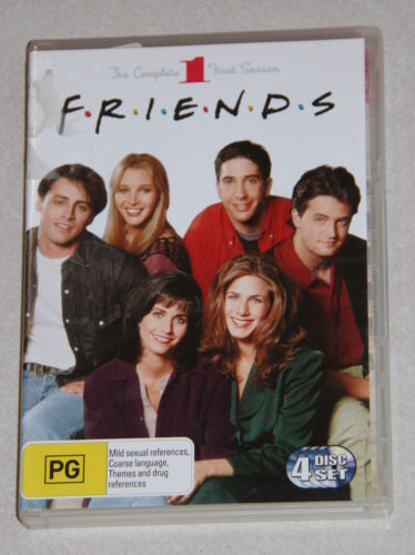 The complete first season of FRIENDS 4 x disc DVD set rated PG