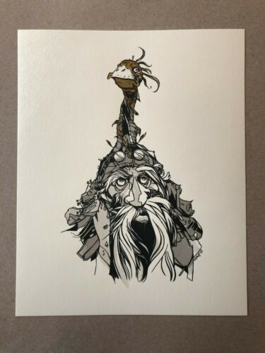 Tyler Stout Labyrinth gold variant handbill Wiseman movie art Pros and Cons