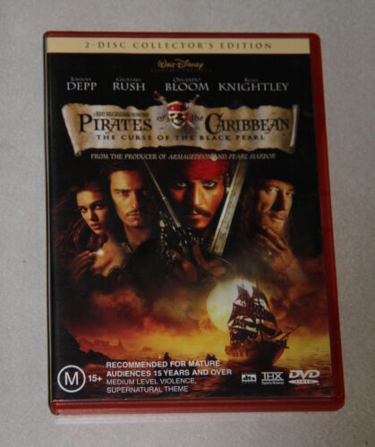 2 x disc DVD - Pirates of the Caribbean The curse of the black pearl -collectors