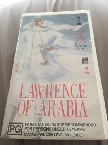 Lawrence Of Arabia VHS 1962 Epic Historical Drama David Lean 1991 Director's Cut