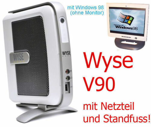 Mini Pc Wyse V90 2x Rs 232 Lpt Parallel with Windows 98 Also for Dos Games Tc2