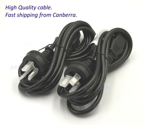 NEW 3 PIN AC Power Cord Cable Lead 1.8M Plug PC MONITOR XBOX TV Printer PS3