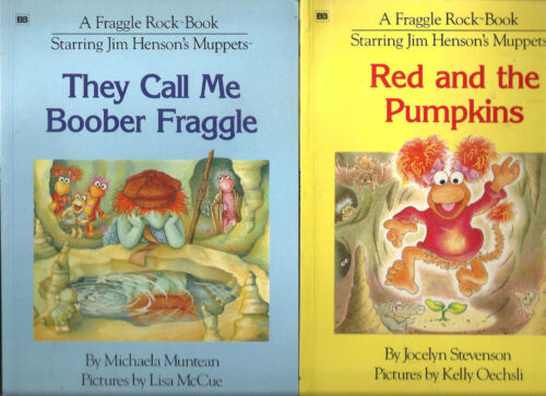 FRAGGLE ROCK JIM HENSON They call me Boober Fraggle & Red and the pumpkins 2 bks