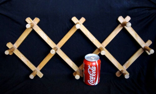 VINTAGE, FOLDING  WOODEN  WALL  HANGER , MADE IN 60s, BULGARIA!