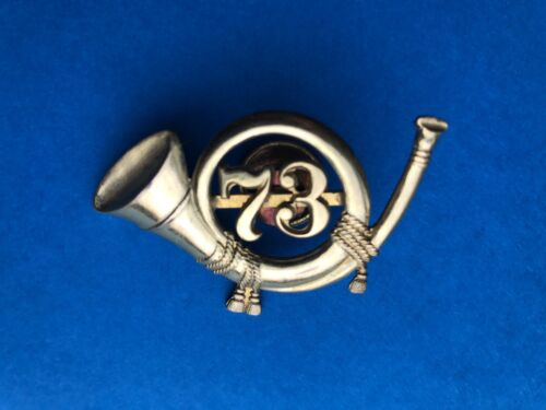ORIG PRE WW1 U.S. INFANTRY OFFICER'S BUGLE HAT INSIGNIA FOR 73TH INFANTRY.Medals, Pins & Ribbons - 36038